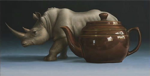 Rhinoceros and the Teapot